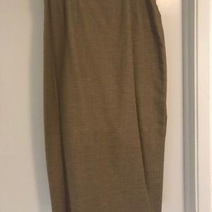 Houndstooth carmel long skirt